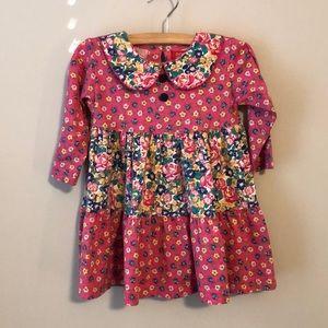 Vintage ESPRIT Floral 100% Cotton Toddler Dress 2T